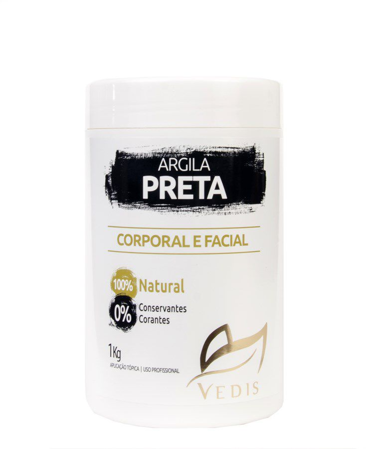 Argila Preta Corporal e Facial Vedis com 1kg