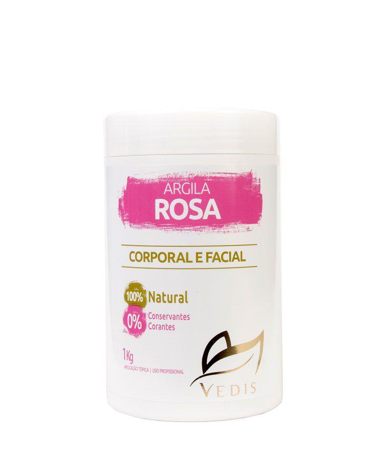 Argila Rosa Corporal e Facial Vedis com 1kg