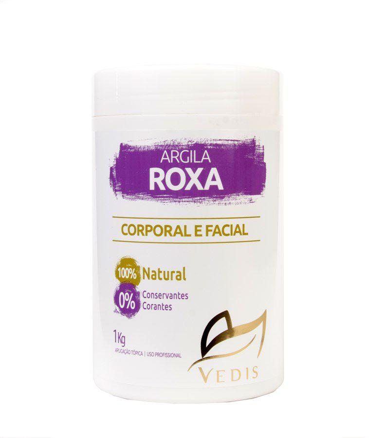 Argila Roxa Corporal e Facial Vedis com 1kg