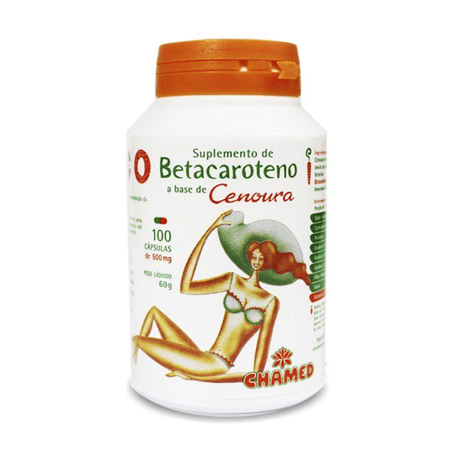 Betacaroteno 500 mg com 100 cápsulas