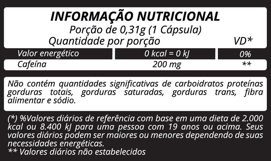 Cafeína 310mg c/60 cápsulas