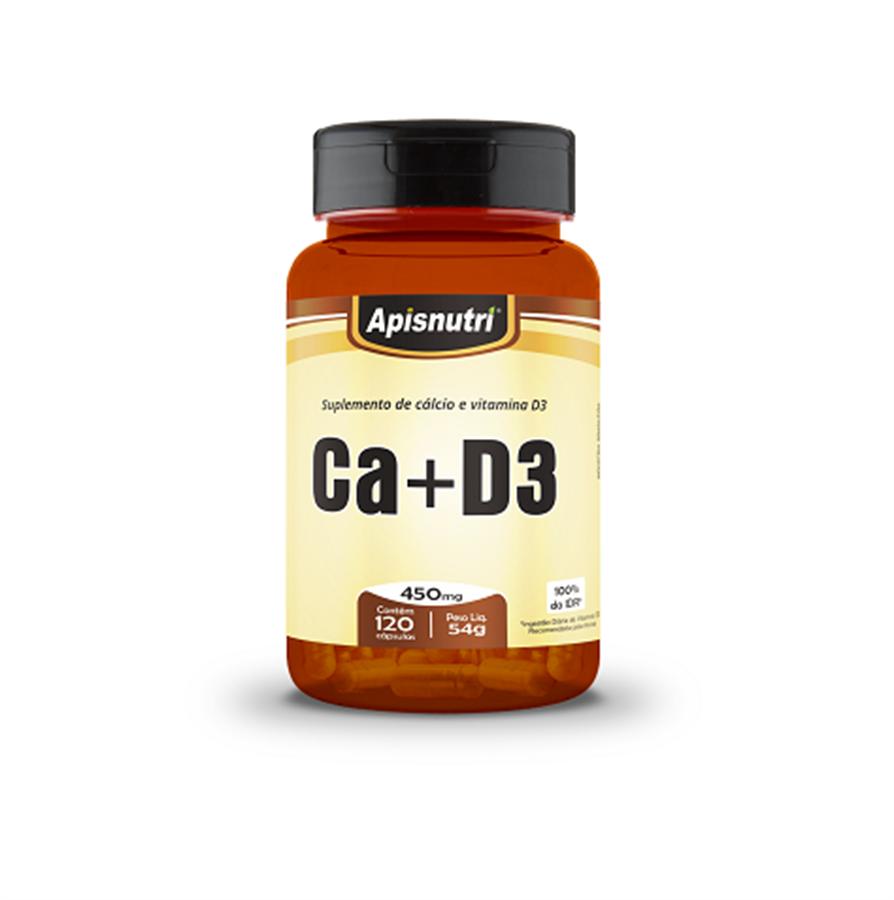 Cálcio + Vitamina D3 450mg c/120 cápsulas