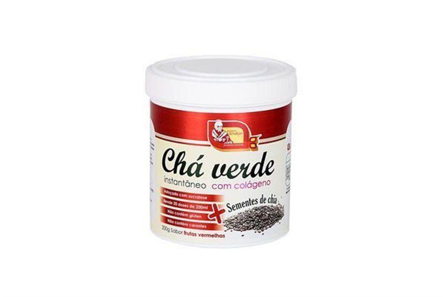 Chá Verde c/ Colágeno 200g + Semente de Chia - Frutas Vermelhas