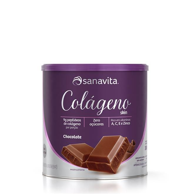 Colágeno Skin Sanavita Chocolate 300 g (30 Porções)