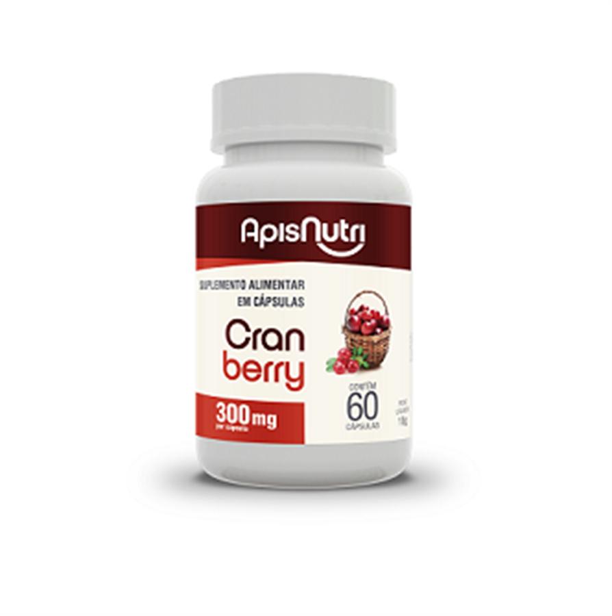 Cranberry Apisnutri 300mg c/60 cápsulas