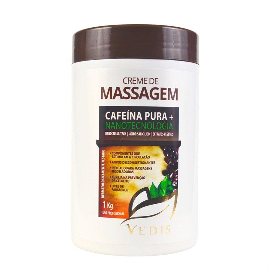 Creme de Massagem Cafeína Pura + Nanotecnologia 1kg