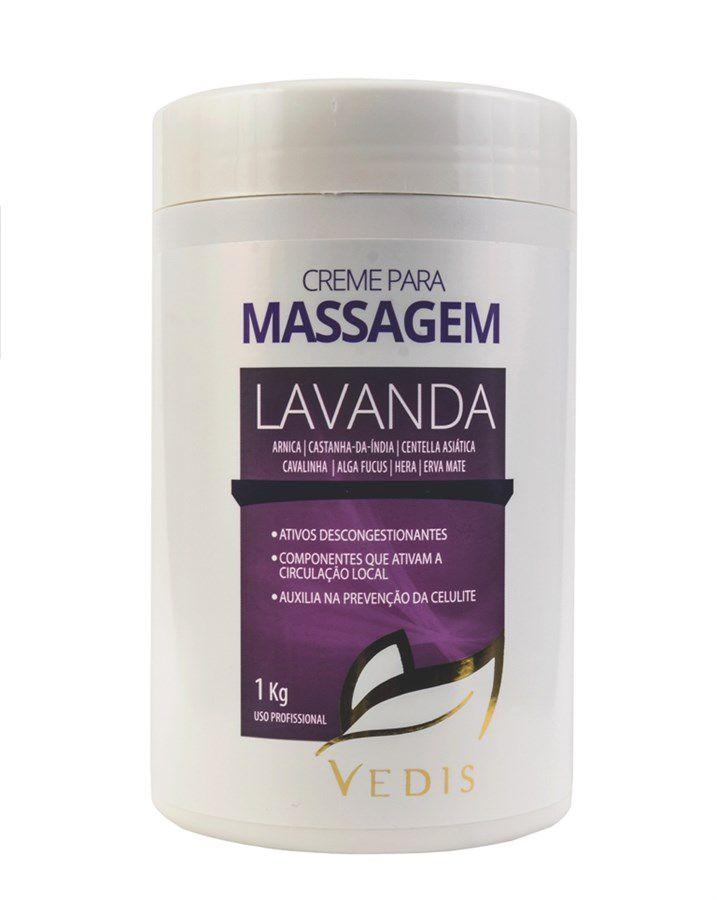 Creme de Massagem Calmante Lavanda 1kg