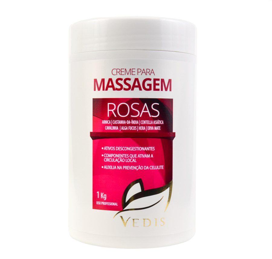 Creme de Massagem com Rosas Sensual 1kg