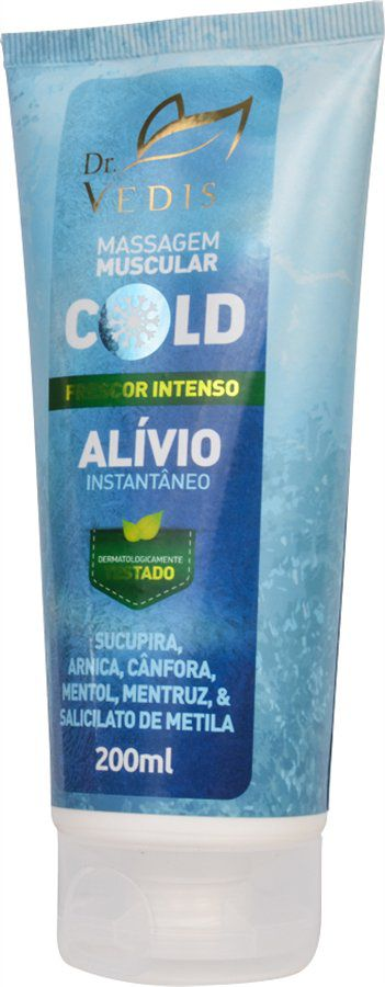 Creme Massagem Muscular Vedis Cold - 200 ml