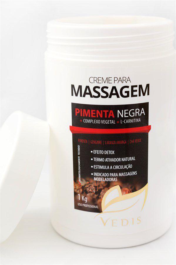 Creme para Massagem Pimenta Negra 1kg