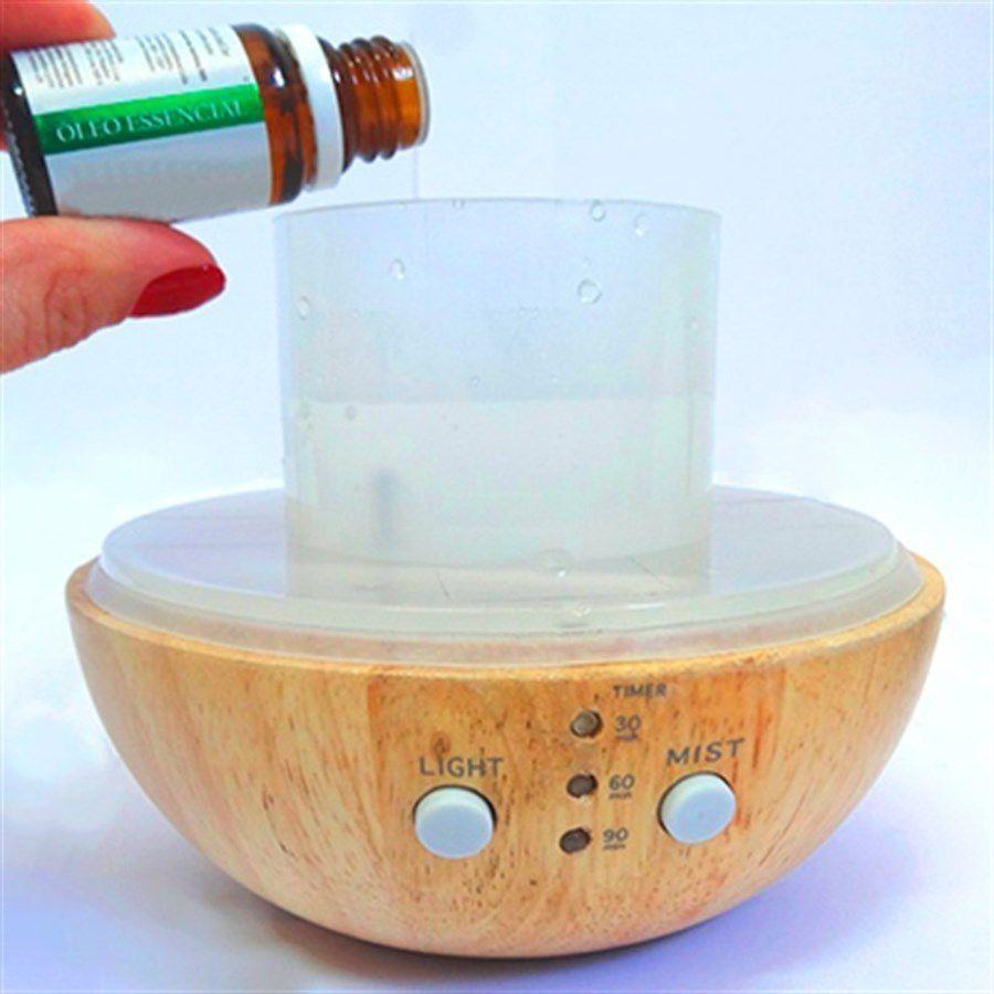 Difusor de Aroma Wood Elétrico 5 em 1