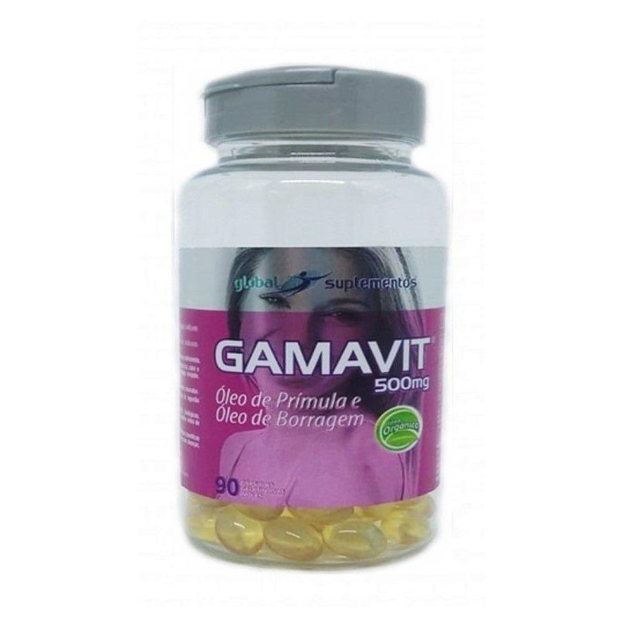 Gamavit 500mg c/90 cápsulas - Óleo de Prímula e Óleo de Borragem