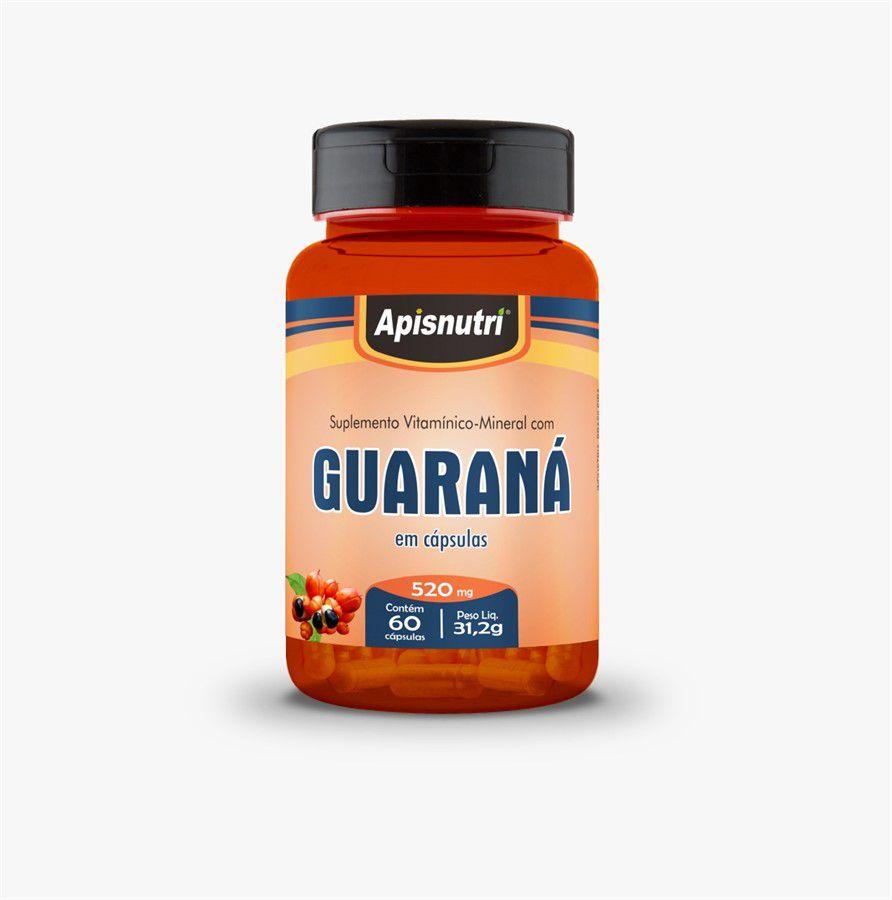 Guaraná 520mg c/60 cápsulas