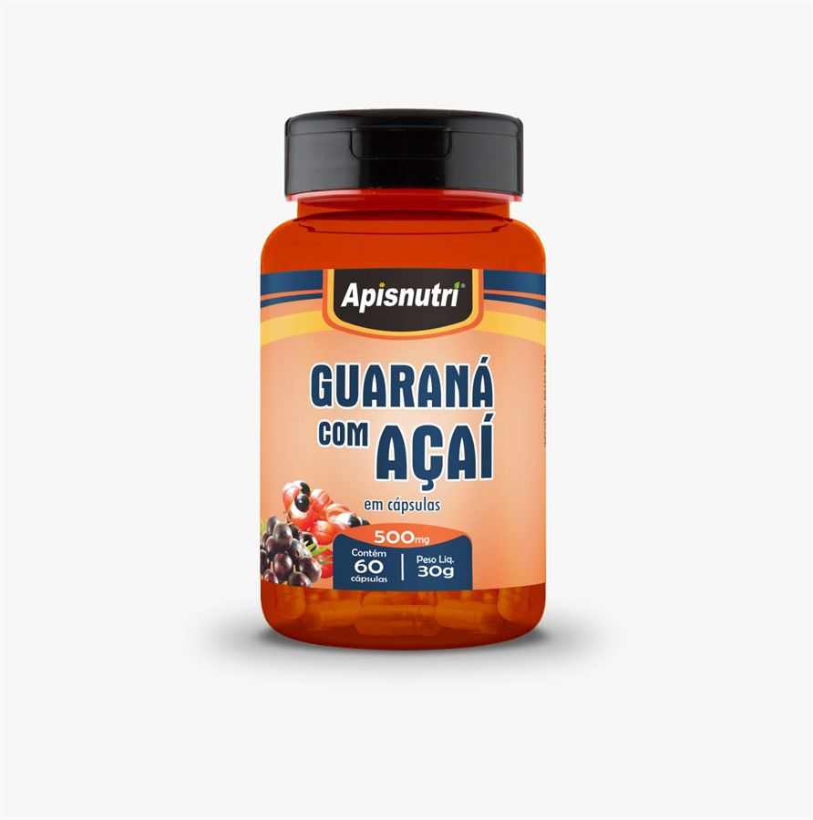 Guaraná com Açai 500mg c/60 cápsulas