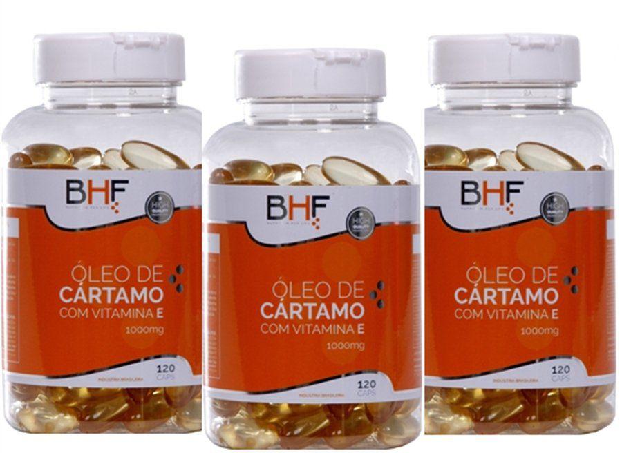Kit C/ 3 Potes de Óleo de Cártamo 1000 Mg  c/120 Cápsula 1000 Mg