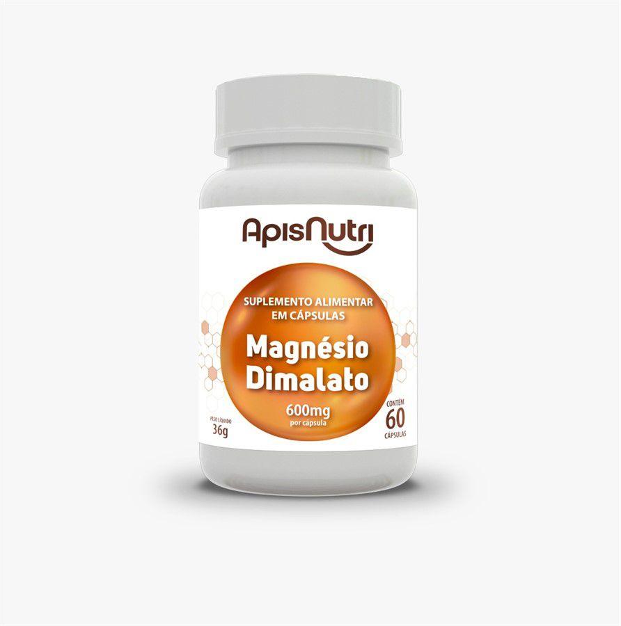 Magnésio Dimalato 60 cap Apisnutri
