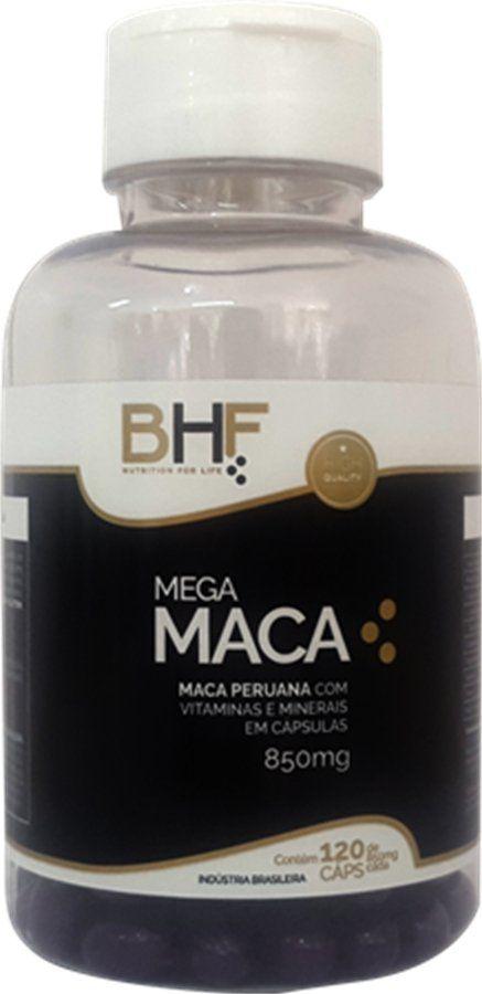 Mega Maca Peruana 850mg c/120 cápsulas BHF