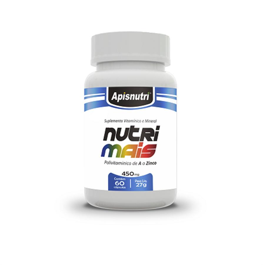 Multivitamínico Nutridaily de A a Zinco 450 mg c/60 cápsulas
