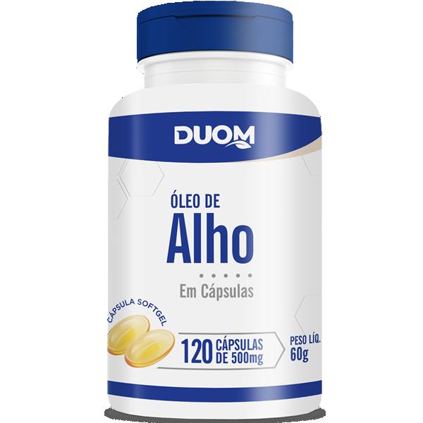 Óleo de Alho c/120 cápsulas 500 mg Duom