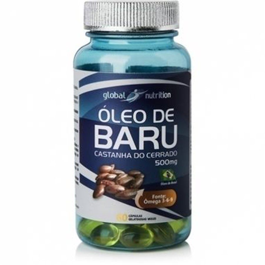 Óleo de Baru 500mg c/90 cápsulas Global Nutrition