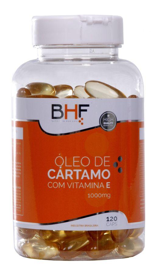 Óleo de Cártamo com Vitamina E de 1000 mg c/120 cápsulas BHF