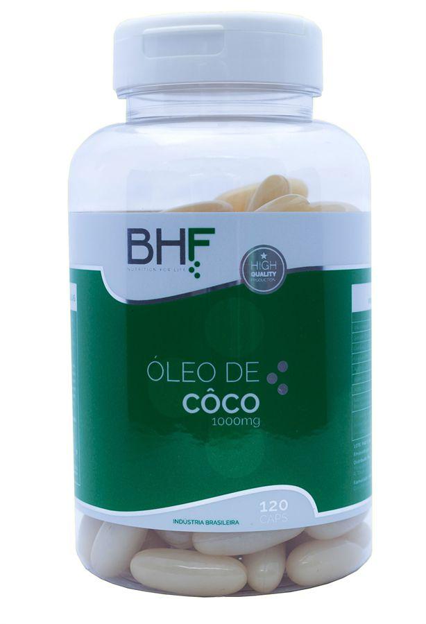 Óleo de Coco c/120 cápsulas de 1000 MG extravirgem BHF