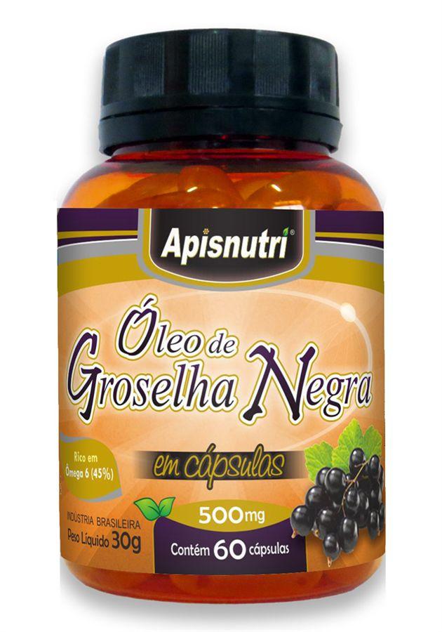 Óleo de Groselha Negra c/60 cápsulas de 500mg