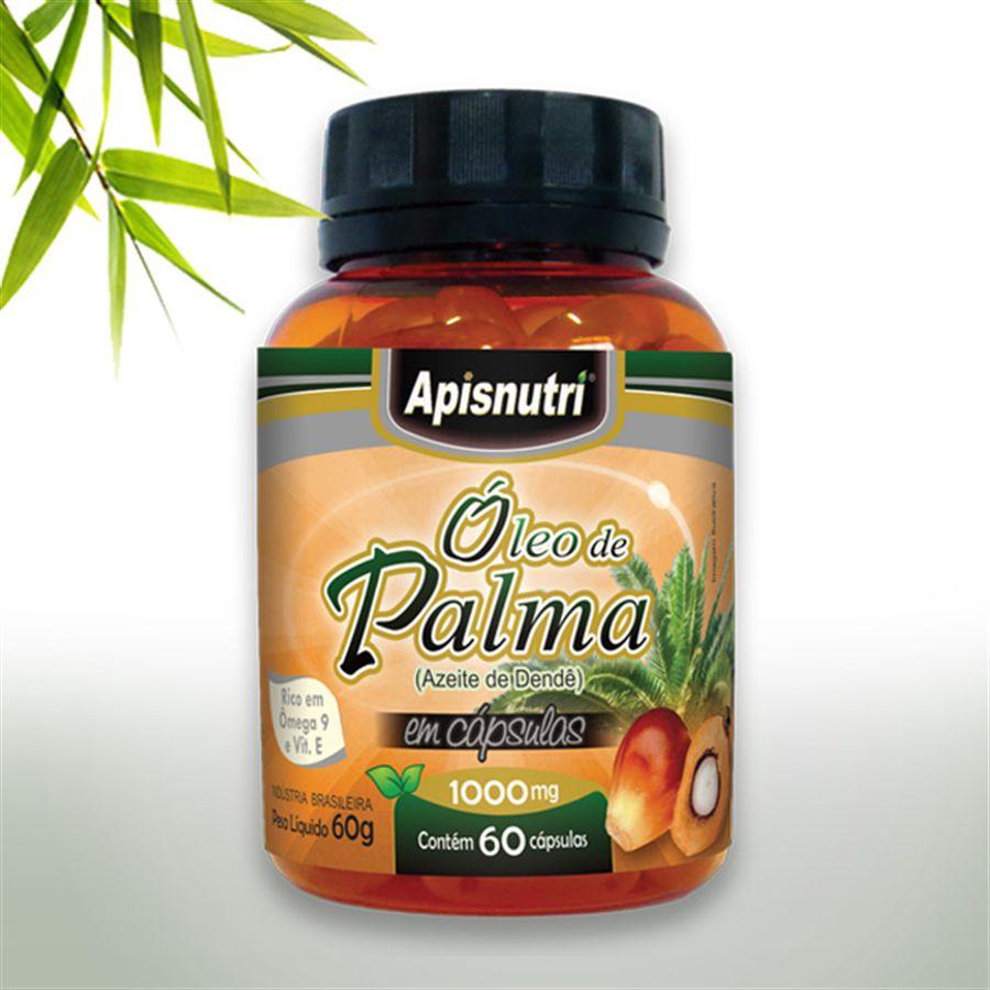 Óleo de Palma 1000mg c/60 cápsulas (Azeite de Dendê)