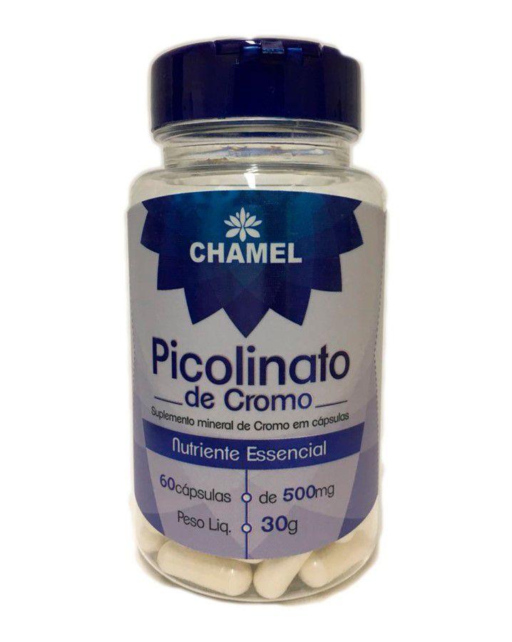 Picolinato de Cromo com 60 cápsulas 500mg