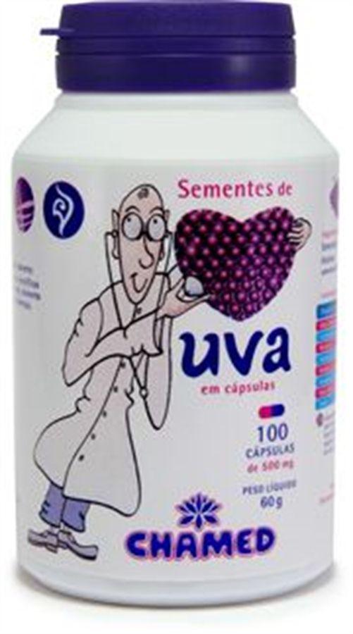 Semente de Uva 500 mg c/100 cápsulas Chamed