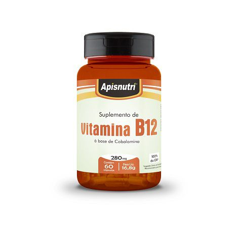 Vitamina B12 (Cobalamina) 280mg c/60 cápsulas Apisnutri