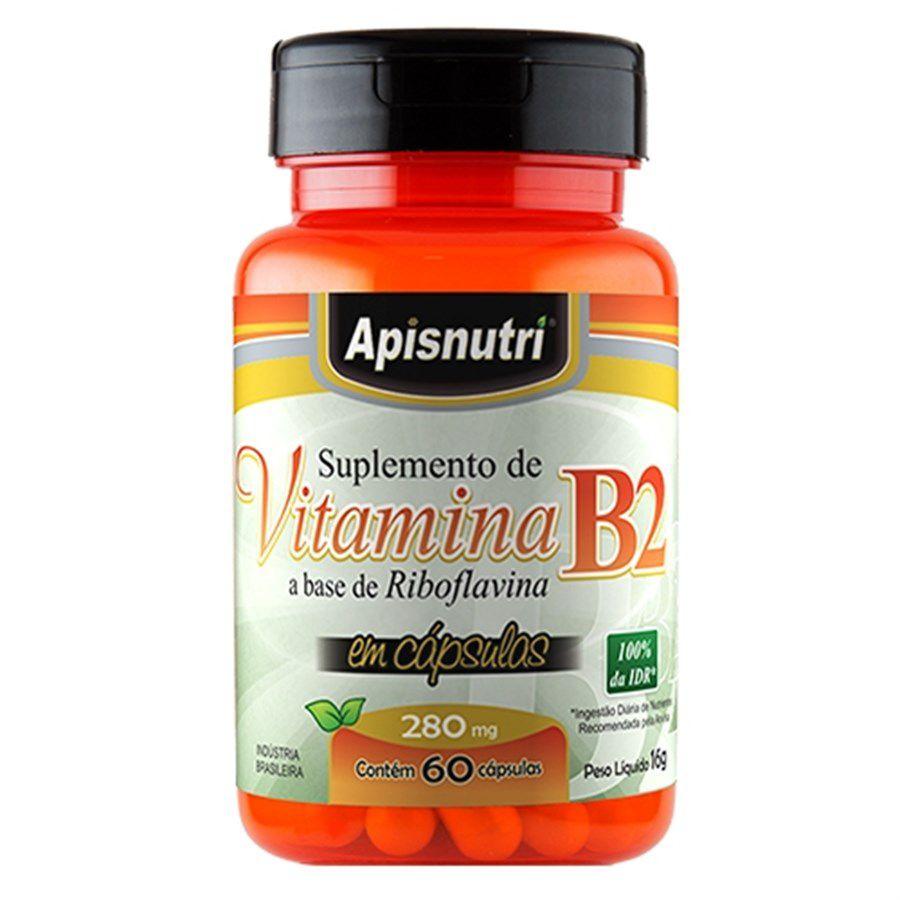 Vitamina B2 (Riboflavina) 280mg c/60 cápsulas Apisnutri