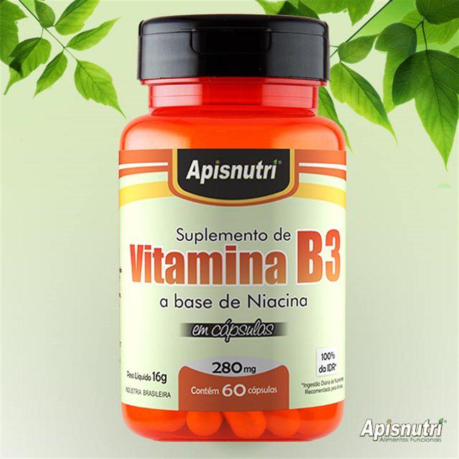 Vitamina B3 (Niacina) 280mg c/60 cápsulas Apisnutri