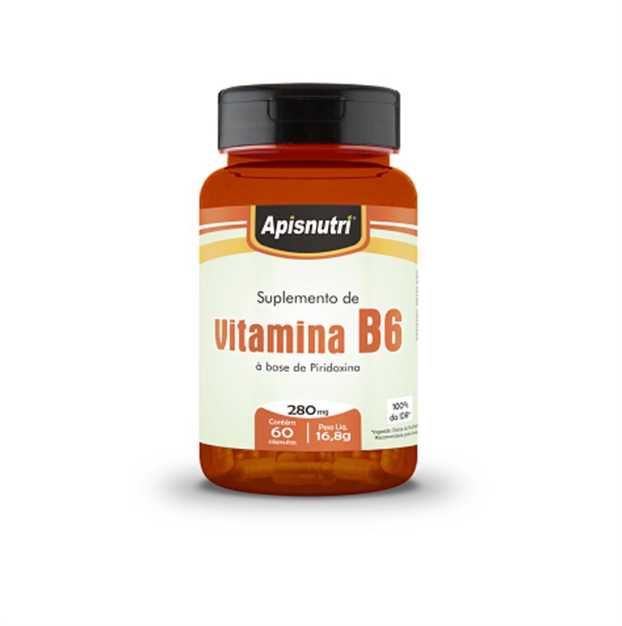 Vitamina B6 (Piridoxina) 280mg c/60 cápsulas Apisnutri
