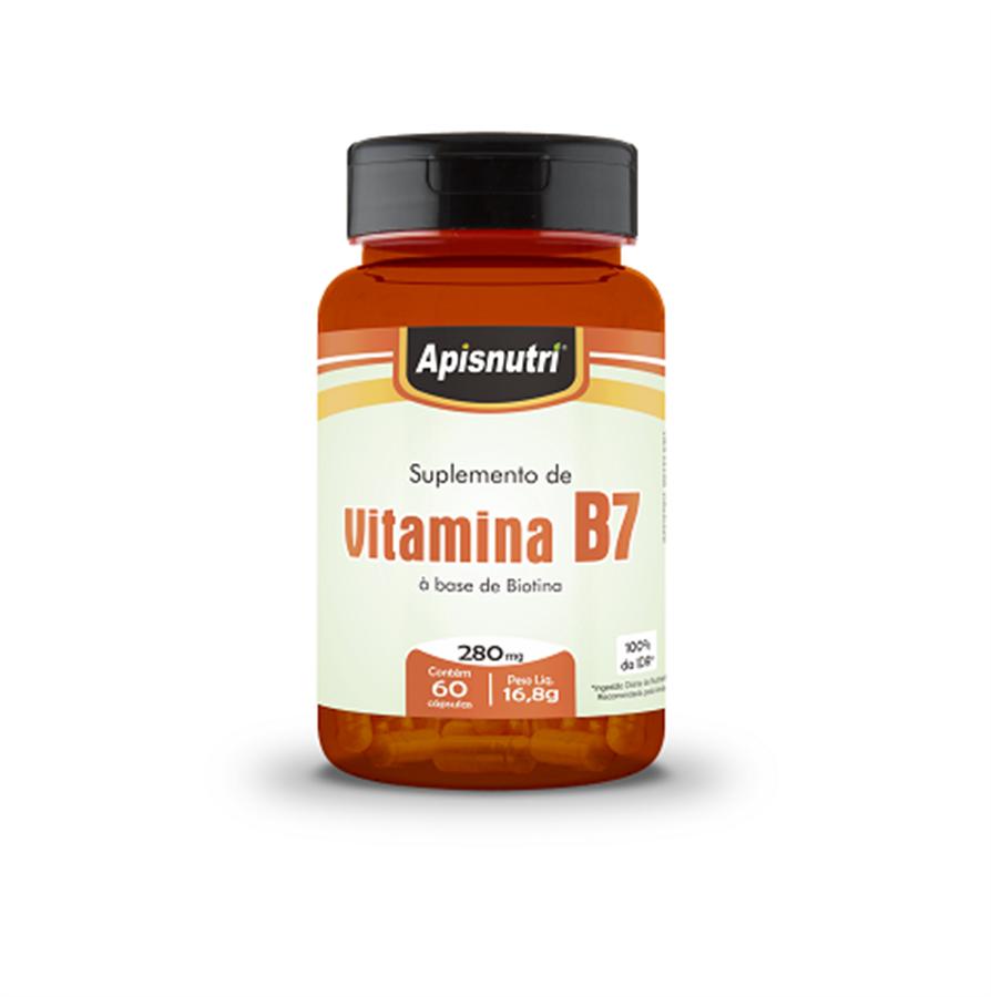 Vitamina B7 (Biotina) 280mg c/60 cápsulas Apisnutri