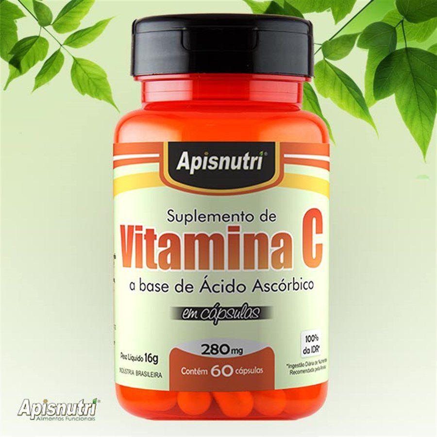 Vitamina C 280mg c/60 cápsulas Apisnutri