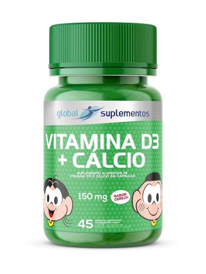 Vitamina D3 + Cálcio Turma da Mônica