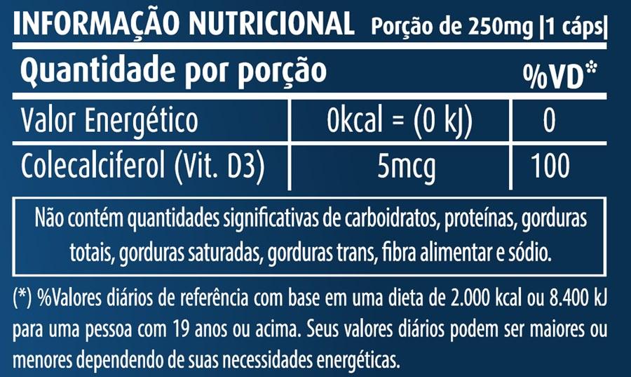 Vitamina D3 Oil 250mg c/60 cápsulas Apisnutri