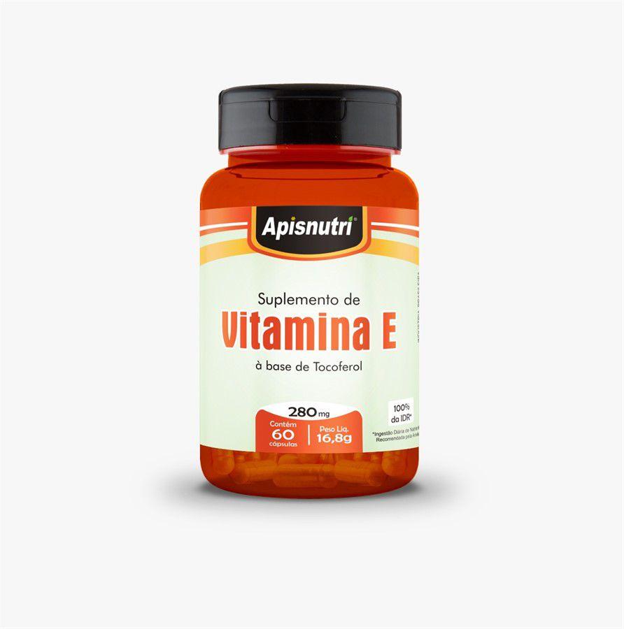 Vitamina E 280mg c/60 cápsulas Apisnutri