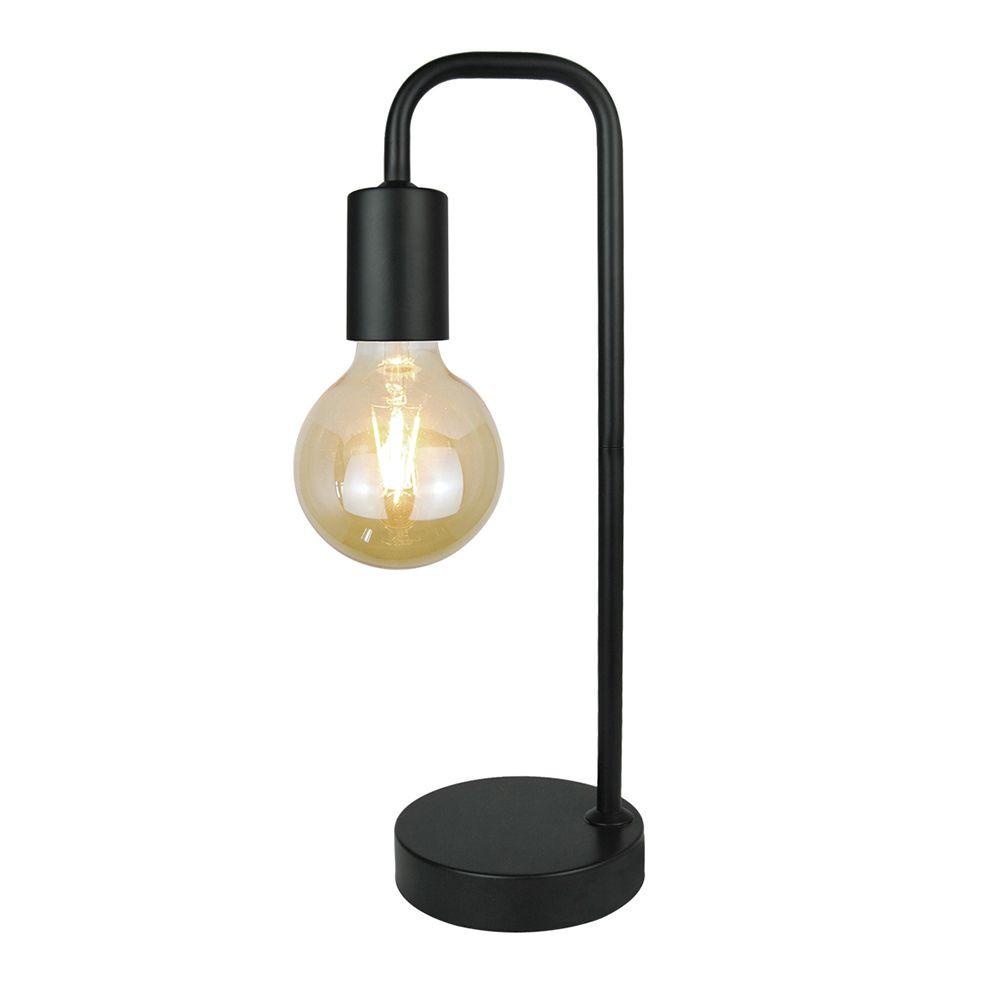 Abajur Carpi, metal preto, 38x12x16
