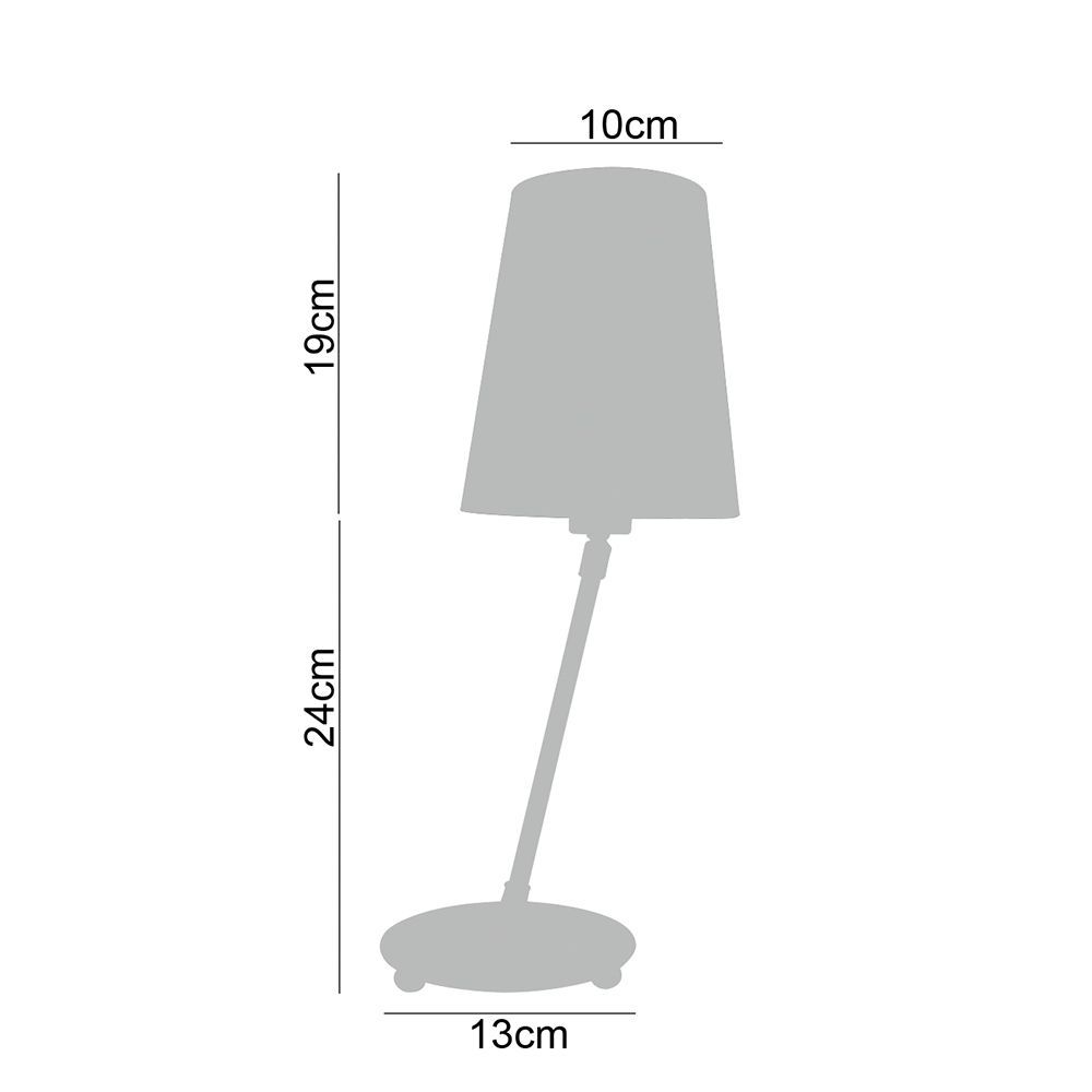 Abajur de mesa articulado 43x13x13 metal e tecido preto