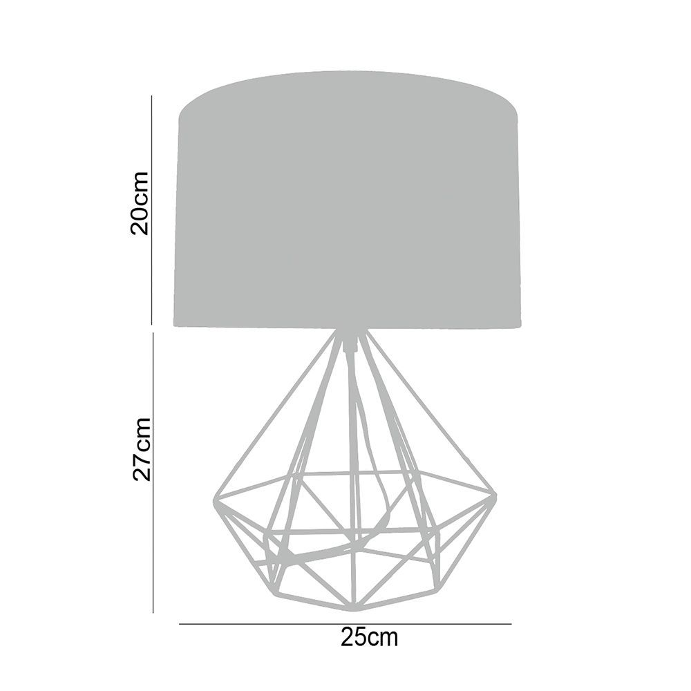 Abajur luminária de mesa charme para sala metal preto