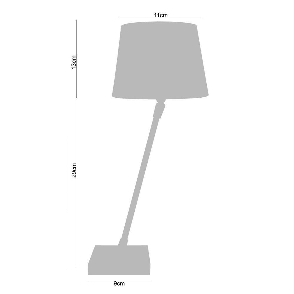 Abajur Luminária Quarto de mesa 35x14x14 Vermelho