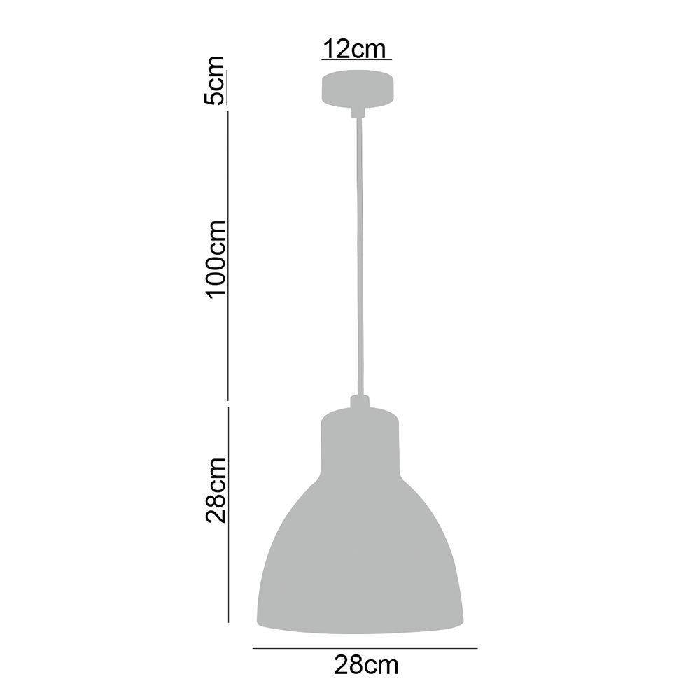 Kit 2 pendentes de metal branco vintage para cozinha