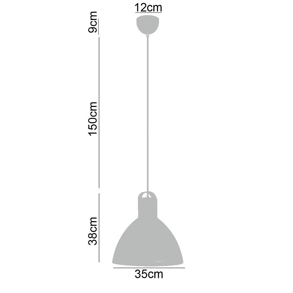 Kit 2 Pendentes detalhe em couro metal branco 188x35x35