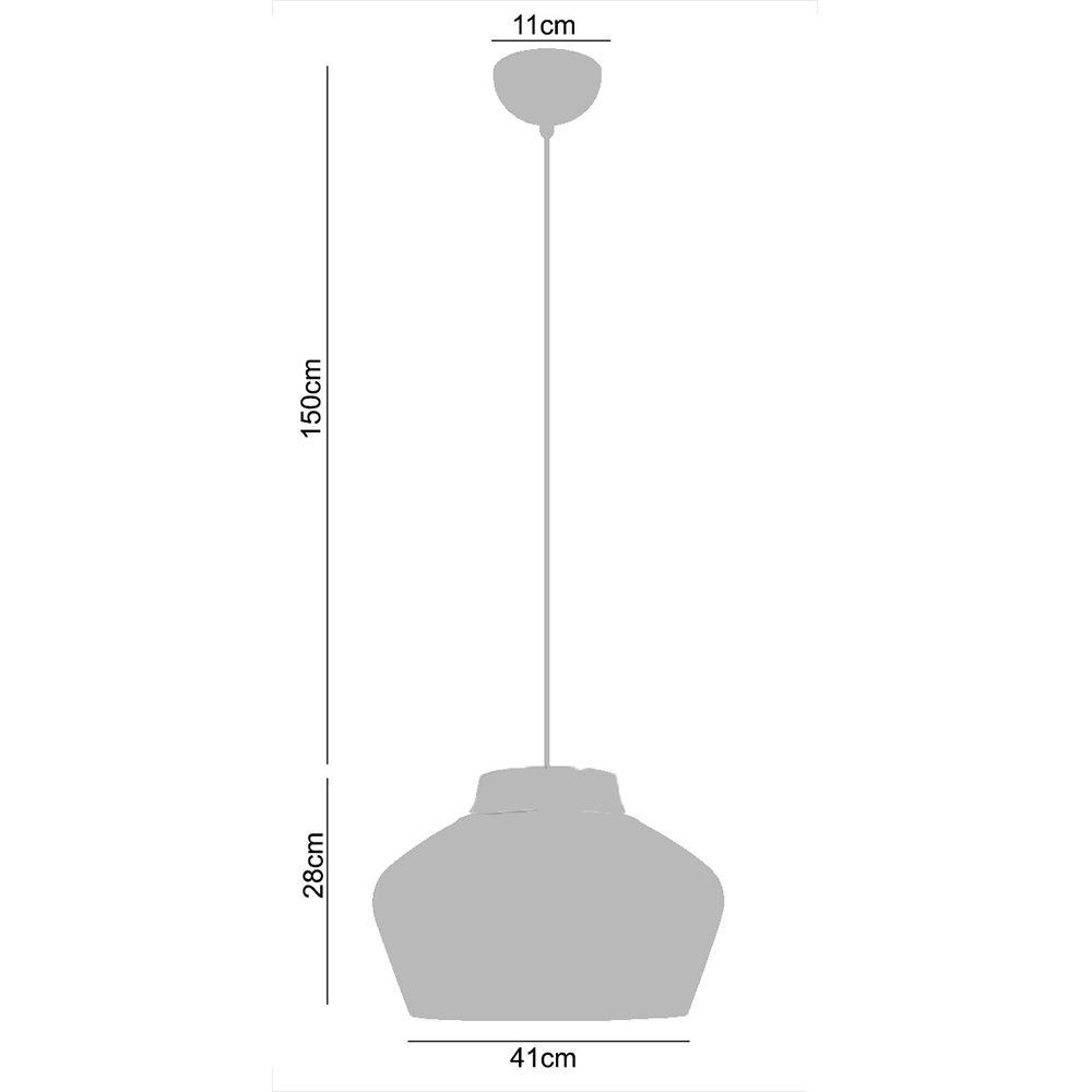 Kit 2 Pendentes para mesa metal preto e prateado