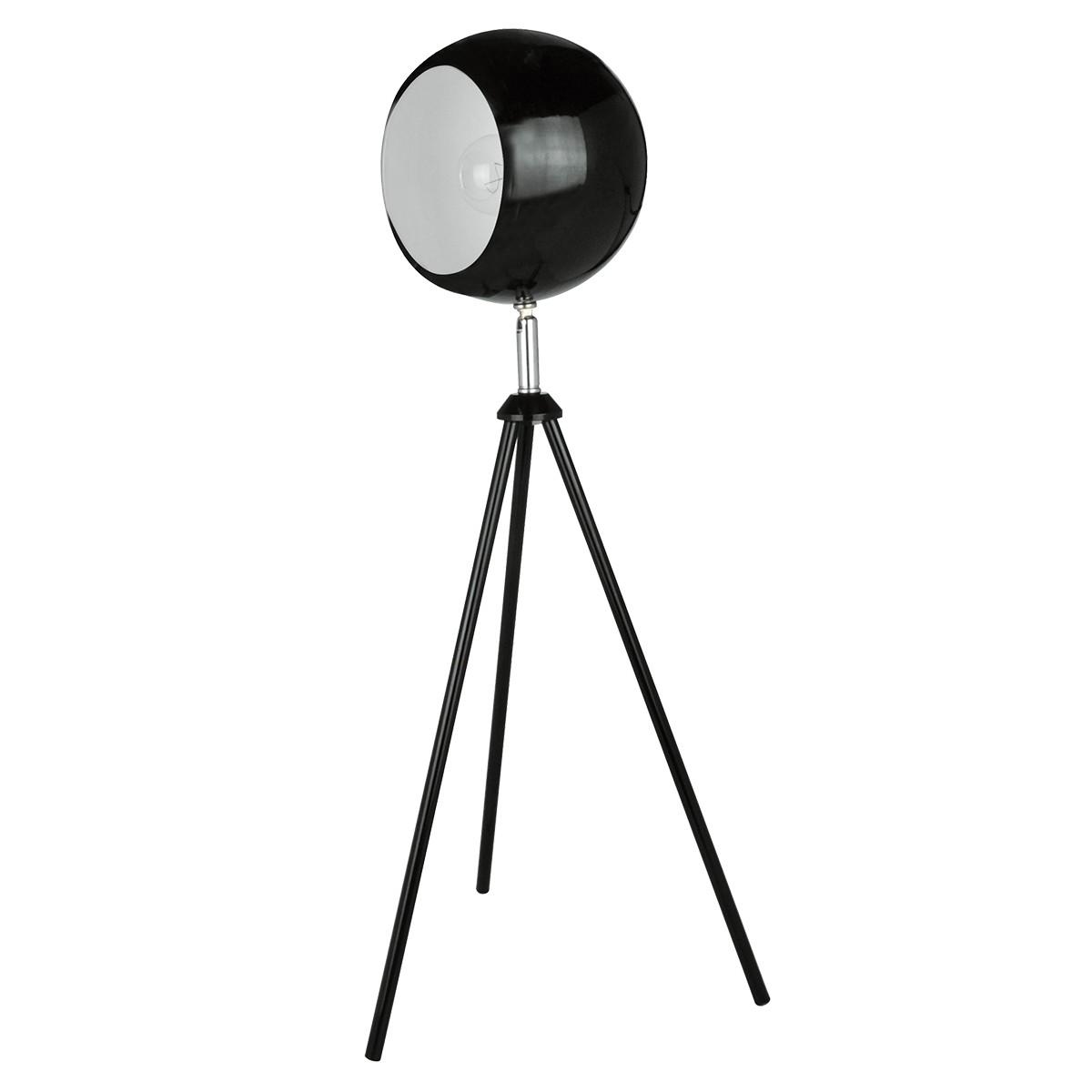 Luminária de mesa, abajur, Lamp Show, 45X18cm, metal Preto