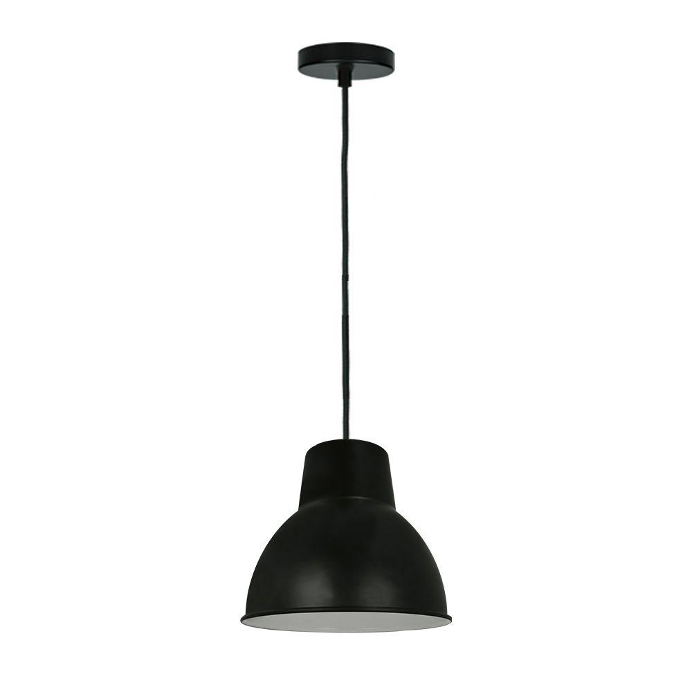 Luminária lustre moderno 131x32x32 metal preto