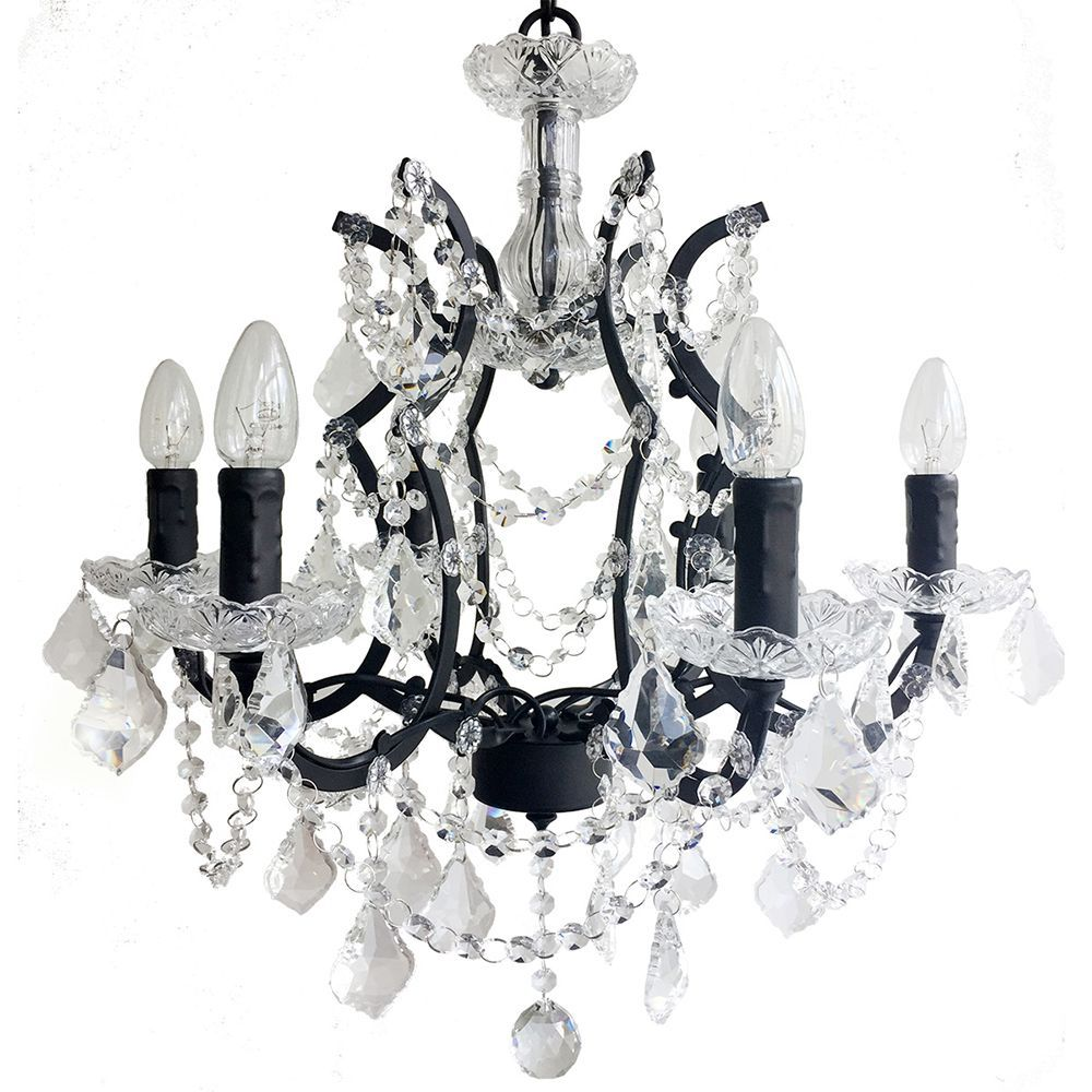 Lustre de cristal para sala tipo industrial metal e cristal