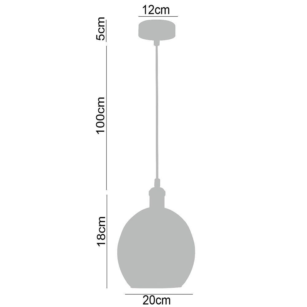 Pendente lustre 118x20X20 metal e vidro transparente